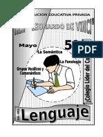 2. Mayo - Lenguaje - 5to