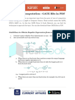 Theory of Computation GATE Bits in PDF 2