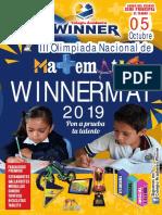"""BASES Y TEMARIO - """"Winnermat 2019"""""""