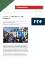 Las Caras de Lisboa más allá de la Champions (Periodismo Humano, 29-05-14, Portugal)