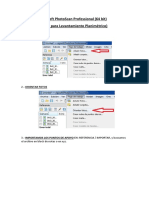 Pasos Para Usar Agisoft PhotoScan Professional 1.4.0 Build 5076 (PARA LEV. PLANIMETRICO)