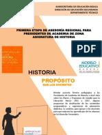Primera Etapa de Asesoría 2018 - 2019 Presidentes de Academia de Zona - Historia