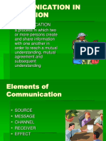 Communication in Extension