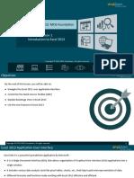Microsoft Excel 2013 MOS Foundation_Lesson 1