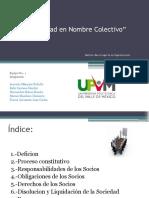 Equipo 1.- Sociedad en Nombre Colectivo (UPVM)
