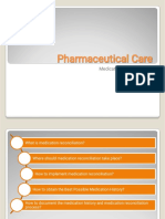 Pharmaceutical Care (Medication Reconciliation)