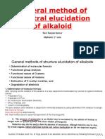General Method of Structural Elucidation of Alkalooid