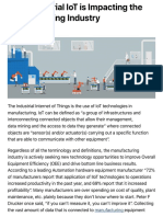 How Industrial IoT is Impacting the Manufacturing Industry LinkedIn