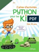Cahier d'Activités Python Pour Les Kids - Eyrolles
