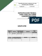 ET Cables de Cobre Concéntrico - Grupo EPM 11 Marzo 2015
