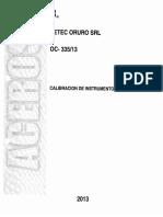 Calibracion de Instrumentos Medicion Setec Oruro Oc335-13