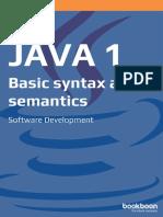 Java 1 Basic Syntax and Semantics