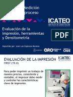 Evaluación de la impresión, herramientas y densitometría