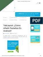 TabLayout_ ¿Cómo Añadir Pestañas en Android