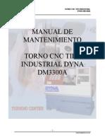 Mantenimiento Torno Dyna Dm3300b