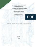 Relatório 6 - Pressão de vapor e entalpia de vaporização (incompleto)