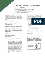 Arquitectura y Algoritmos de Los Cuatro Tipos de Agente