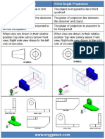 Drawing Concepts First vs Third Projection