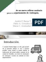 Presentacion-Localización de un nuevo relleno sanitario
