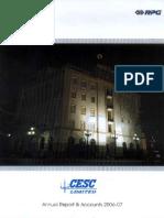 CESC Annual Report 2006-07.pdf