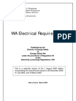 WA Electrical Requirements, Dept Consumer & Employment Protection