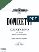 Donizetti Concertino Cl e Pf
