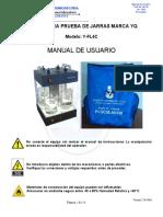 Manual Floculador Test de Jarras 4C Puestos YARETH QUIMICOS LTDA