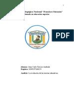 Analisis Sobre La Evolucion de Las Teorias Educativas .