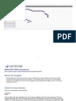 A sample Gant Chart File