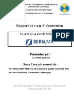 Rapport de Stage d'Observation SEBN-MA