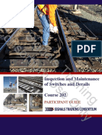 PREVIEW Course 202 Inspection and Maintenance of Switches and Derails FINAL 9.3.2014