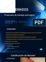 Quemados Protocolo de Manejo Quirúrgico