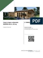 Casa in Legno Coibentata MARINA 8x6 m 48 Mq (2)
