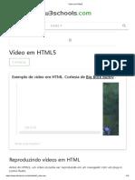 Vídeo Em HTML5