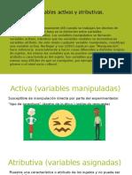 Variable Atributiva y Activa