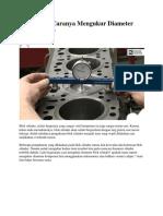 Bagaimana Caranya Mengukur Diameter Blok Silinder