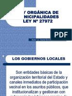 Ley Organica de Municipalidades i