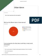 Questionarie Urban Dance
