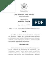 AP3317-2018(52478) Prueba Documental. Autencidad, Incorporación. Evolución Jurisprudencial
