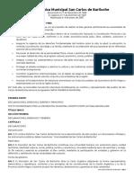 Carta Orgánica Municipal de San Carlos de Bariloche