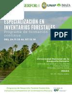 Especializacion en inventarios Forestales