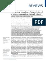 A Changing Paradigm of Transcriptional Memory Propagation Through Mitosis