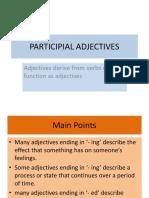 Participial Adjectives