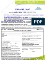 Bon d'inscription pour le Seminaire Internet France/Israel
