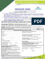 Bon d'inscription pour le Seminaire Internet France/Israel