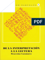 De La Interpretacion a La Lectura 1-3