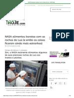 NASA Alimentou Baratas Com as Rochas Da Lua - OVNI Hoje