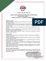 Especificaciones Técnicas Construcción Casas 2019