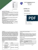 Díptico Química IV 2019 - 2020