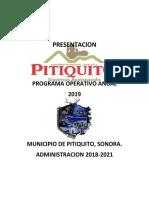 Programa Operativo 2019